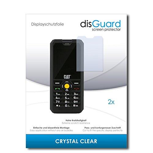 disGuard® Bildschirmschutzfolie [Crystal Clear] kompatibel mit Caterpillar Cat B30 Dual SIM [2 Stück] Kristallklar, Transparent, Unsichtbar, Extrem Kratzfest, Anti-Fingerabdruck - Panzerglas Folie, Schutzfolie