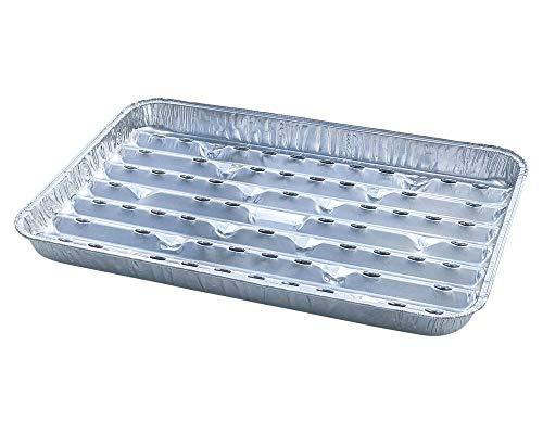 1-PACK Alu-Grillpfannen Grillschalen BBQ, 34.4 x 22.4cm, mehrfach verwendbar, 100 Stück