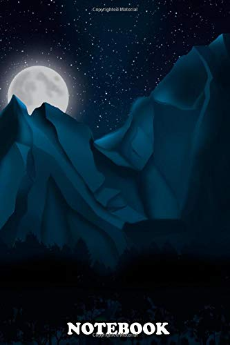 Notebook: Night Walk Photoshop Digital Painting , Journal for Writing, College Ruled Size 6