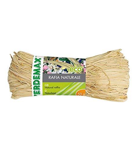 Verdemax 4592 Bobine de Raphia Naturel 50 g