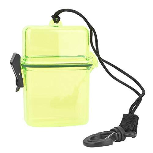 Keenso Tauch-Trockenbox, transparente Unterwasser-Tauch-Telefonhülle aus Kunststoff Tauchen wasserdichte schützende Telefonhülle Kamera-Reisetasche mit Seilhaken zum Surfen Kanu Kajak(Gelb)