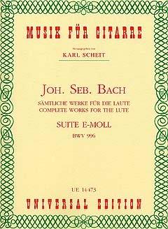 SUITE E-MOLL (BWV 996) - arrangiert für Gitarre [Noten / Sheetmusic] Komponist: BACH JOHANN SEBASTIAN