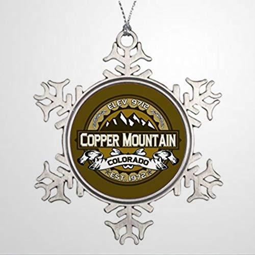BYRON HOYLE Ski Xmas Trees Decorated Copper Mountain Home Decor Christmas Snowflake Ornaments Xmas Decor Wedding Ornament Holiday Present