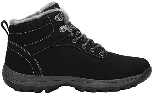 Mishansha Mens Womens Snow Boots Winter Warm Ankle Boots Fully Fur Lined Non-Slip Waterproof Shoes for Outdoor Walking…