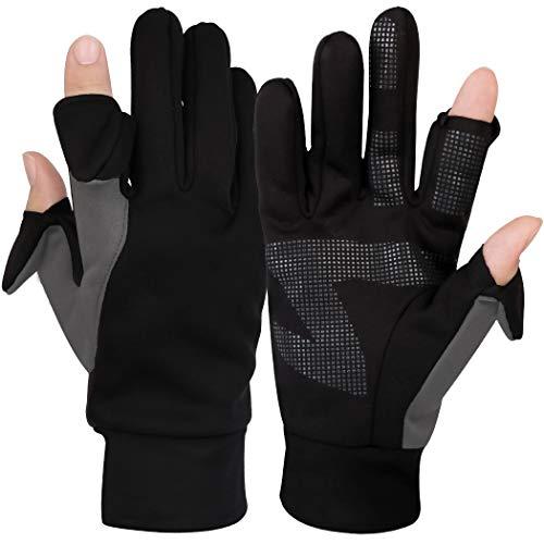 Fascigirl Fingerlose Fahrradhandschuhe Warme Winterhandschuhe Touchscreenhandschuhe Fäustlinge Radsport Handschuhe Winddichte Laufhandschuhe rutschfeste für Männer Frauen zum Laufen, Radfahren