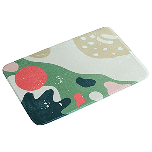 RUGS-YZ Multicolor Door Mat Courtyard 02- Green Water absorption bedroom kitchen mat, durable flannel cushion 40 * 120cm