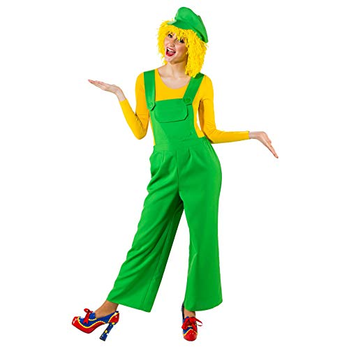 Orlob Damen Kostüm Latzhose grün Karneval Fasching Gr.36/38