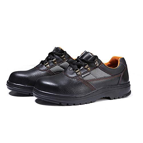 Shoes Atmungsaktive Sicherheitsarbeitssandalen, sommerliche pannensichere Stahlkappenschutzschuhe, Rutschfeste Sicherheitsbergsteigersandalen, baustellengeeignet, schweißbar...