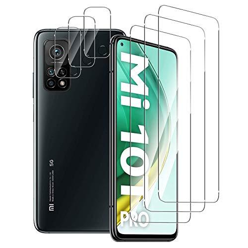 Aerku Pellicola Vetro Temperato per Xiaomi Mi 10T PRO 5G / Xiaomi Mi 10T 5G [3 Pezzi] + Pellicola Fotocamera [3 Pezzi], 2.5D Ultra Sottile HD Anti Graffi Trasparente Pellicola Protettiva