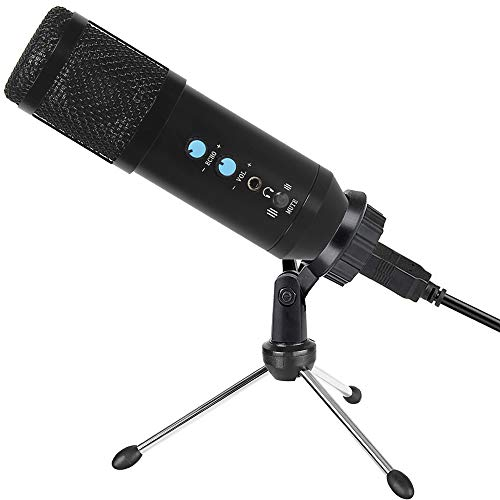 2020 Upgraded USB Microphone for Computer, Mic for Gaming, Podcast, LiveStreaming, YouTube Recording, Karaoke on PC, Plug & Play, with Adjustable Metal Tripod Stand, for Windows macOS, Ideal for Gift