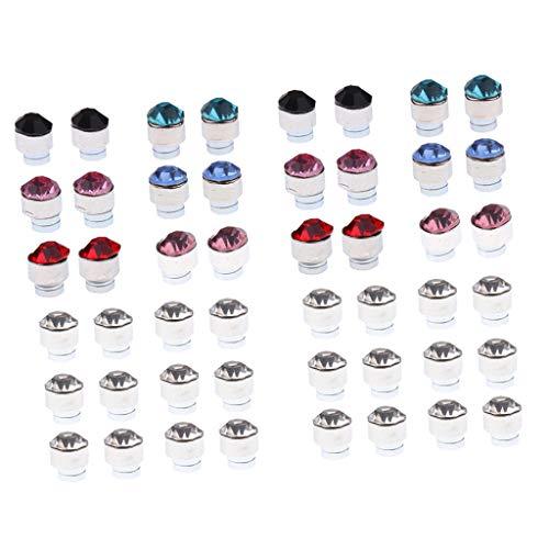 yotijar 24 pares de pendientes brillantes redondos de cristal brillantes para mujeres y hombres