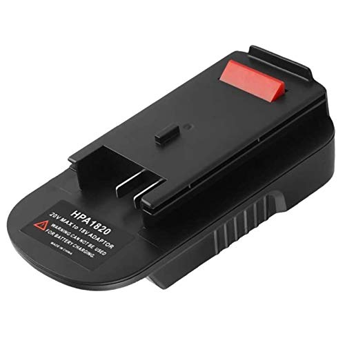 HPA1820 20V to 18V Replacement Adapter Compatible with B&D Battery, Convert for Black and Decker & for Stanley & for Porter Cable 20V Max Lithium Battery to B&D HPB18 HPB18-OPE 244760-00 A1718
