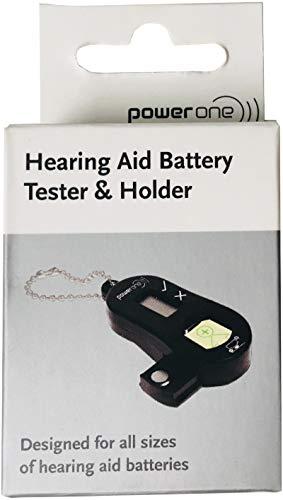 Power One Batterietester für Hörgerätebatterien - mit Aufbewahrungsbox Batteriebox