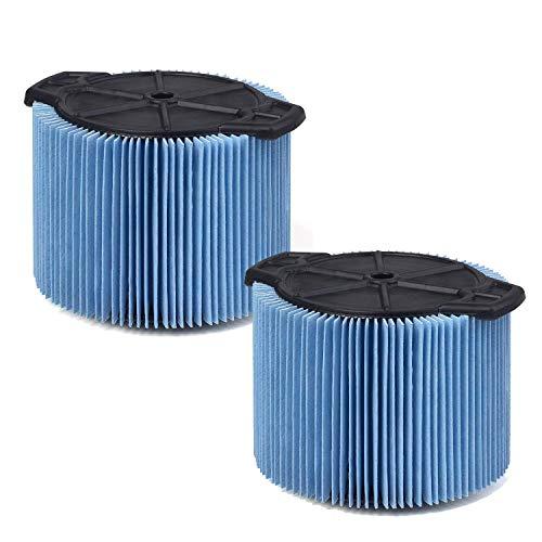 OxoxO - Filtros de vacío para aspiradora de taller de 3 galones a 4-1/2 galones (paquete de 2)
