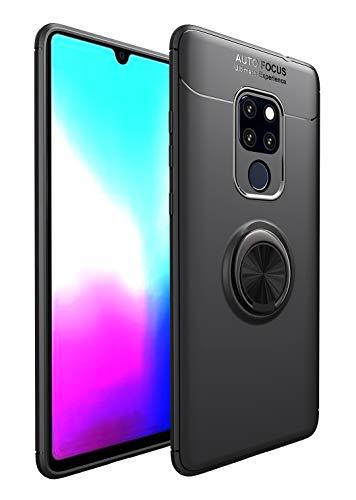 SORAKA Funda para Huawei Mate 20X 5G/4G con Anillo Giratorio de 360 Grados Funda Silicona Suave Funda Ultrafina con Placa de Metal para Soporte magnético de teléfono para automóvil