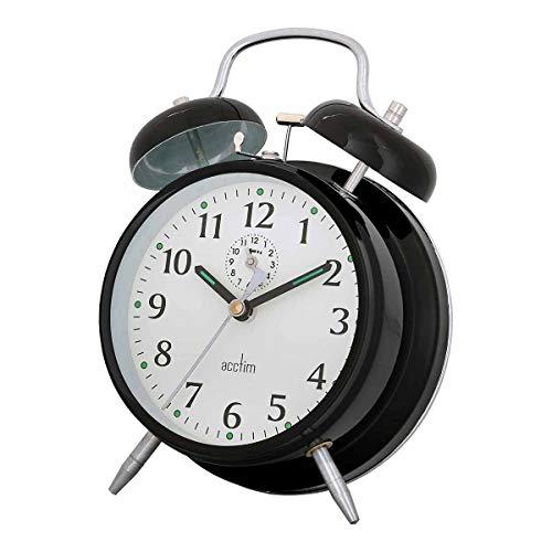 Acctim 12623 Saxon Reloj con Alarma, Color Negro