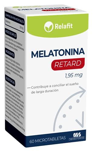Melatonina Retard Pura 1,95 mg – 60 Microtabletas   Relafit – Laboratorios MS   Suministro para 2 meses   Efecto Liberación Prolongada   Ayuda con el insomnio o trastornos del sueño   Vegano