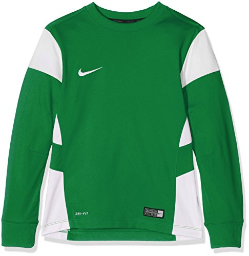 NIKE Long Sleeve Top YTH Academy14 Midlayer Camiseta, Unisex, Verde y Blanco, Medium