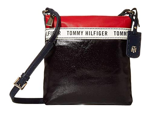 Tommy Hilfiger Julia Coated Canvas Crossbody Navy/Red/White One Size