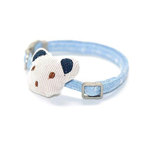 GBY huisdier kraag, kraag kat, cartoon gevulde katoenen beer, enkele kraag riem, blue-S, Kleur