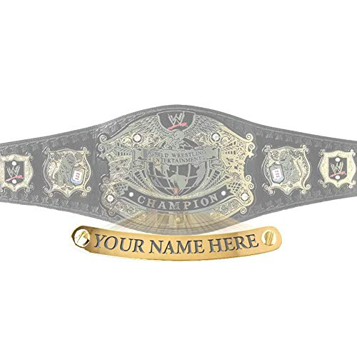 Figures Toy Company Personalized Nameplate Compatible with Adult WWE Undisputed Version 2 Championship Replica Belt (WWE Shop Version Only)