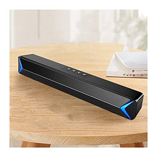 AMZSELLER Altavoz PC TV Sound Bar AUX USB cableado y inalámbrico Bluetooth Home Theatre FM Radio Envolvente Sound Bar PC Altavoz Computadora Barra de Sonido Altavoces PC (Color : S13 Black Bluetooth)