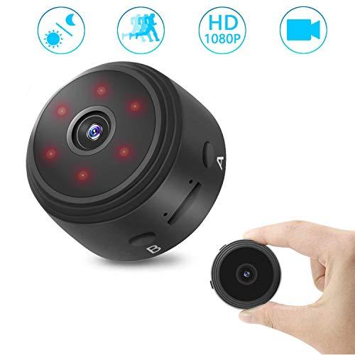 Cámaras Espía Oculta HD 1080P 120°Gran Angular Grabadora de mini vídeo Cámara con visión nocturna por infrarrojos/detección de movimiento(No soporta wifi)