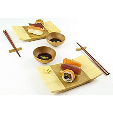 Zoie + Chloe 100% Natural Bamboo Sushi Gift Set for Two