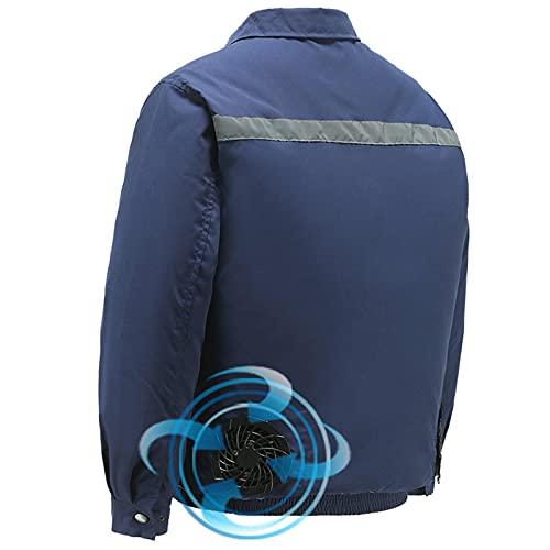 Giacca Abbigliamento Aria Condizionata Ventola Riflettente Cotone Taglia Regolabile Estate,Blue,S