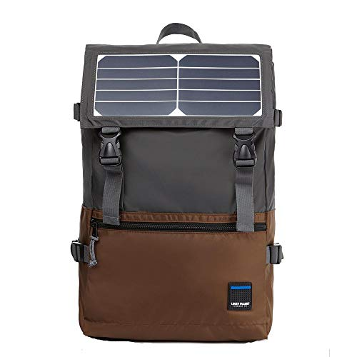 Lucky Planet Waterproof Solar Powered USB Charging Travel Backpack for Smart Cell phone and Tablets