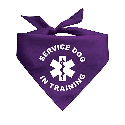 Tees & Tails Service Dog in Training Printed Dog Bandana (Assorted Colors)