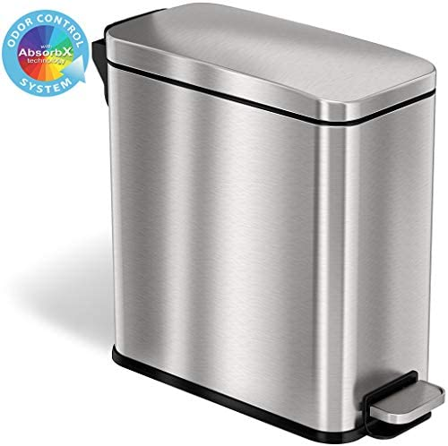 Best iTouchless stainless steel trash can depot for bathroom