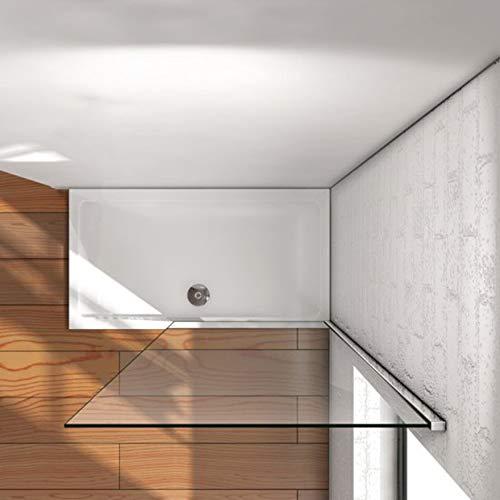 Mampara walk-in, Mampara de ducha fija de 50x200cm,Vidrio templado de 8mm tratamiento antical/Easyclean: Amazon.es: Bricolaje y herramientas