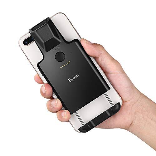 Lettore di codici a barre Bluetooth Eyoyo 1D, lettore di codici a barre wireless con clip posteriore portatile, batteria ricaricabile da 1050 mAh, funziona con Android, iOS per inventario di magazzino