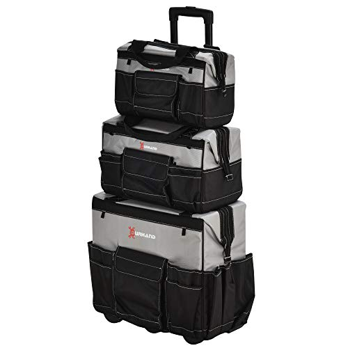 DURHAND 3pcs Rolling Mobile Tool Bag Electrician with 3 Bags
