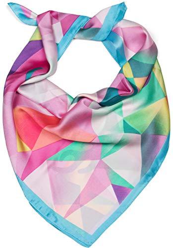 styleBREAKER pañuelo de mujer cuadrado con estampado...