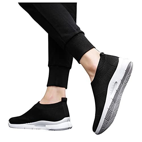 Briskorry Hardloopschoenen heren sportschoenen effen gymschoenen mesh ademende zachte zool straatloopschoenen antislip sneaker jogging fitness schoenen zomer herfst gymschoenen voor heren