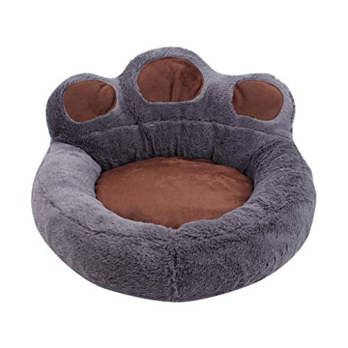 XBR Puppy Dog Bed Small Dogs, Dog Cat Bed Winter Warm Sleeping Bag Bear Claw Pet Bed Calming Wicker Detachable Small Medium Large Fluffy Cat Bed Washable Mattress Cushion Sleeping Basket