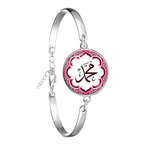 Regalo De Ramadán, Pulsera De Cabujón De Cristal De 18 Mm Para Mujer, Encanto Árabe Musulmán, Dios Islámico, Brazalete De Alá, Joyería