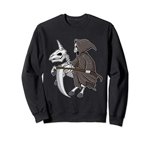 Spaventoso Unicorno scheletro Grim Reaper Ghost Rider Felpa