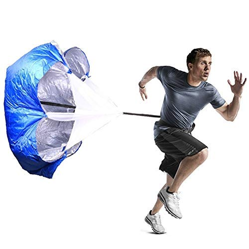 Entrenamiento de la fuerza de fitness paraguas velocidad del viento Taladros resistencia al aire la fuerza del entrenamiento del paracaídas paraguas (Negro) Práctico equipo de gimnasia en el hogar.