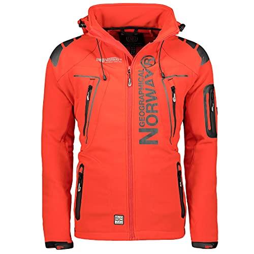 Geographical Norway Tambour - Chaqueta Softshell para Hombre, Hombre, Color Rojo, tamaño Small
