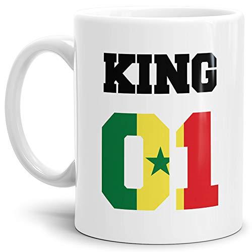 Tassendruck Flaggen-Tasse King - Senegal - Pokal/Mug/Cup/Becher/WM/Pärchen/Paare/Fre&e/Beste Qualität - 25 Jahre Erfahrung