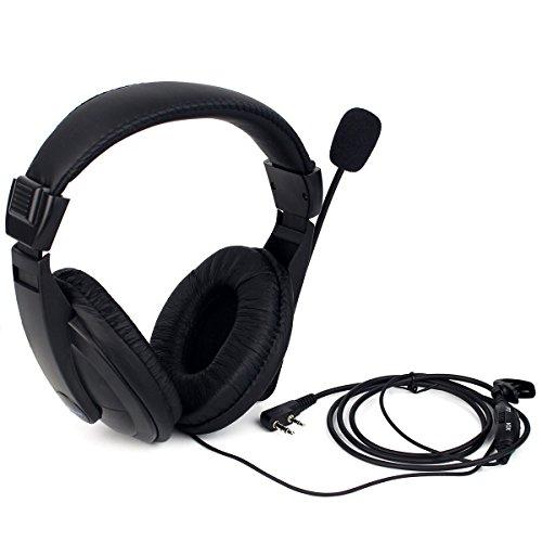 Retevis R114 Auricular de Diadema Cancelación Ruido VOX 2 Pines Over-Ear Pinganillos Compatible con Walkie Talkie Retevis RT24 RT22 RT5R RT27 Baofeng BF-888S UV-5R Kenwood Proster (1 Pacs)