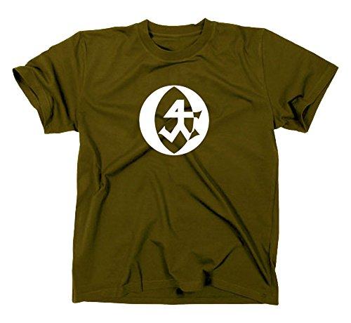 Steinmetz Handwerk Zunft Logo T-Shirt, M, Oliv