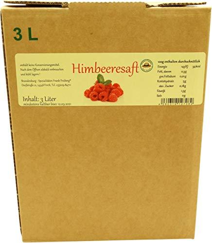 Brandenburg-Spezialitäten Frank Freiberg - Fercher Himbeersaft - 3 Liter