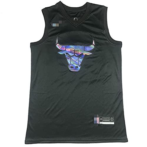 YDHZ Búll # 23 Jordán Nueva Temporada Jersey de Baloncesto EDICIÓN Especial DE Camiseta DE Camiseta Camiseta DE BALIFALIZADOR DE MEZÓN RESPULTADA T-Shirt Black-L