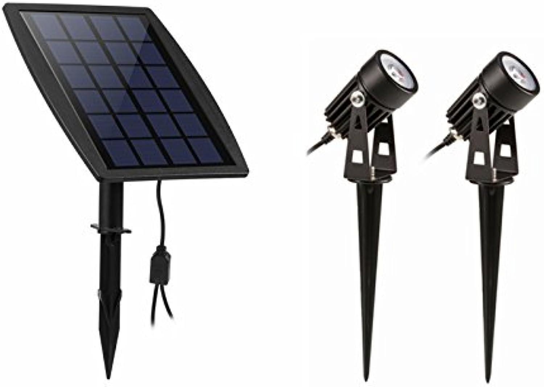 Solarlampe für Drauen, Solar-Beleuchtungssystem, Dichtigkeit IP68,Spots für Landschaft, Garten, Wege, Innenhof, Rasen usw. (Farbe  gelb)