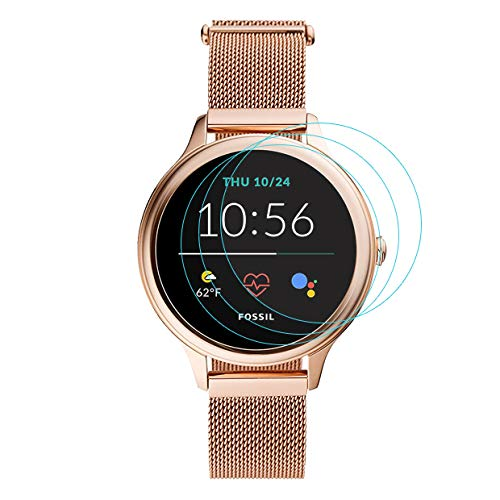 3-Pack for FossilGen5E Screen Protector Tempered Glass for FossilGen5E Smartwatch [2.5D 9H Hardness][Anti-Scratch]
