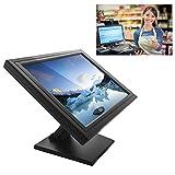 Monitor LCD táctil de 17 pulgadas, VGA, USB, soporte para PC/POS para vida al por menor, restaurante, bar, café